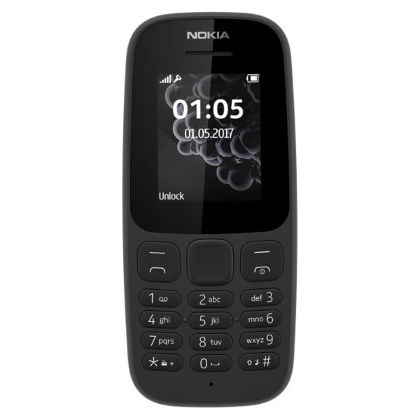 Nokia 105 ( 2017 ) Single Sim Mobile Phone Black