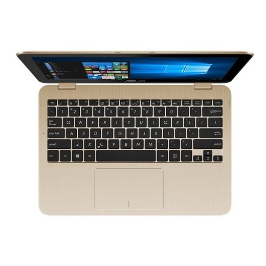 Asus VivoBook Flip 12 TP203NAH Convertible Touch Laptop - Celeron 1.6GHz 2GB 500GB Shared Win10 11.6inch HD Gold
