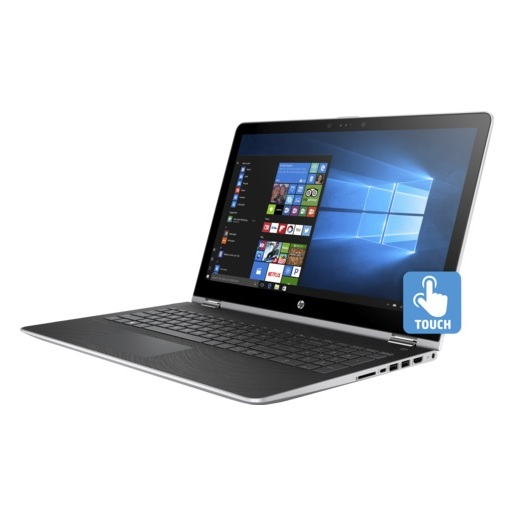 HP Pavilion x360 15-BR101NE Convertible Touch Laptop - Corei7 1.8GHz 8GB 1TB+128GB 4GB Win10 15.6inch FHD Silver