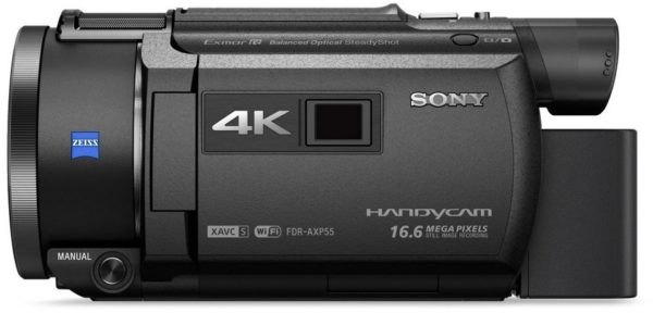 Sony FDR-AXP55 4K Handycam with Built-in projector Camcorder Black
