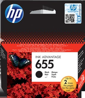 HP 655 CZ109AE Ink Cartridge Black