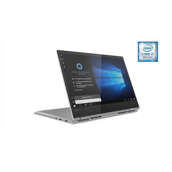 Lenovo Yoga 730 Convertible Touch Laptop - Core i7 1.8GHz 16GB 512GB Shared Win10 13.3inch FHD Platinum