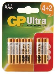 GP GP24AU422P6 AAA Ultra Alkaline Batteries 4+2pcs