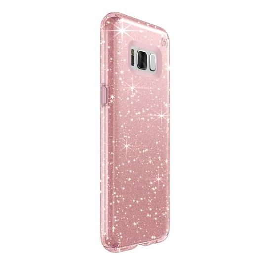 cheap for discount b08d6 4cde5 Speck Presidio Clear Glitter Case Rose Pink For Samsung Galaxy S8 ...