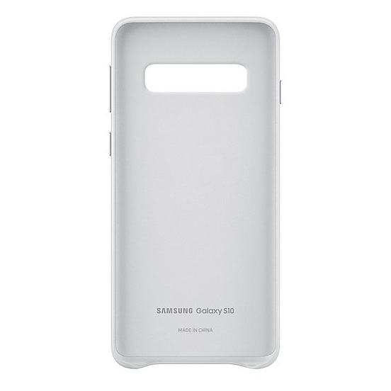 Samsung Leather Case White For Galaxy S10 Plus