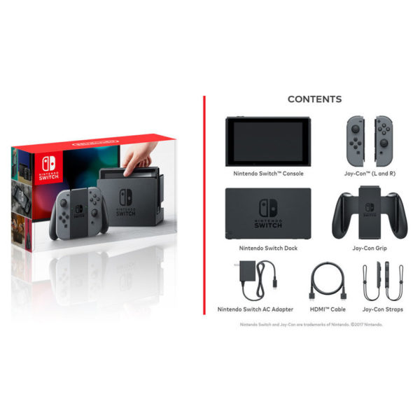 Nintendo Switch Gaming Console 32GB Black With Grey Joy Con