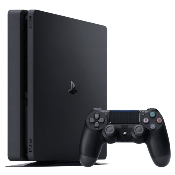 Sony PS4 Slim Gaming Console 1TB Black + Dual Shock 4 Controller Black