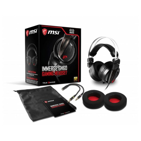MSI GH60 Immerse Gaming Headset Black
