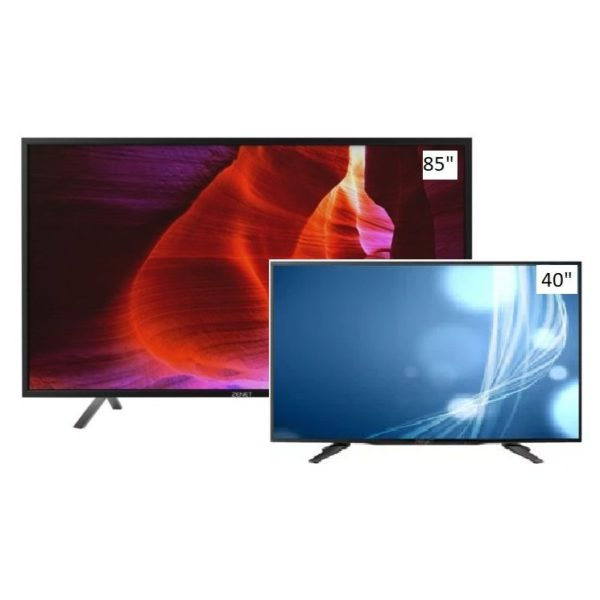 Zenet Z86S UHD 4K Smart LED TV 85inch + Zenet Z40E Full HD LED TV 40inch