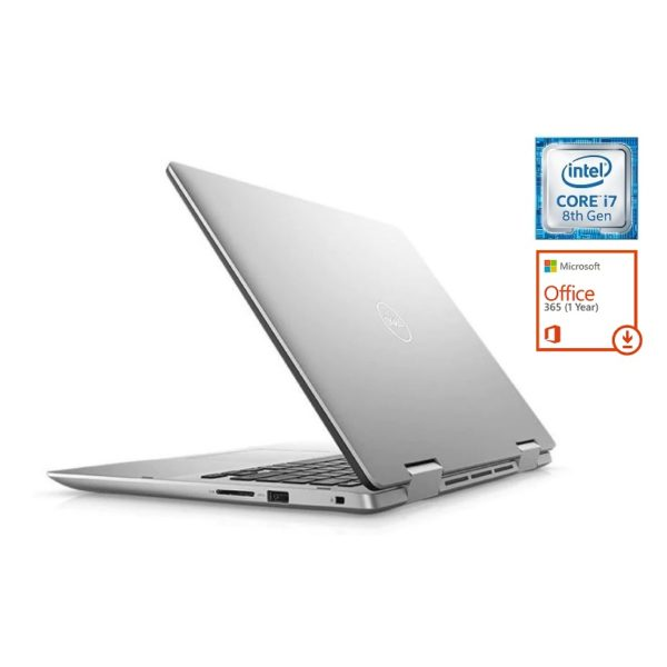 Dell Inspiron 14 5482 Touch Laptop - Core i7 1.8GHz 16GB 512GB 2GB Win10 14inch FHD Silver + Pre-loaded MS Office