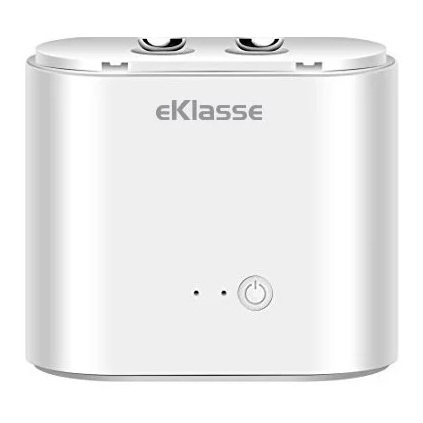 Eklasse Bluetooth Earphone With Charging Case - White