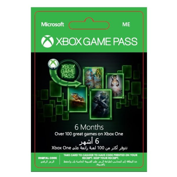 Microsoft Xbox Game Pass 6 Month Subscription