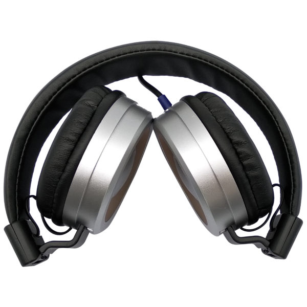 Eklasse Wired Headphone Silver Ear-Cap With Gold Rim