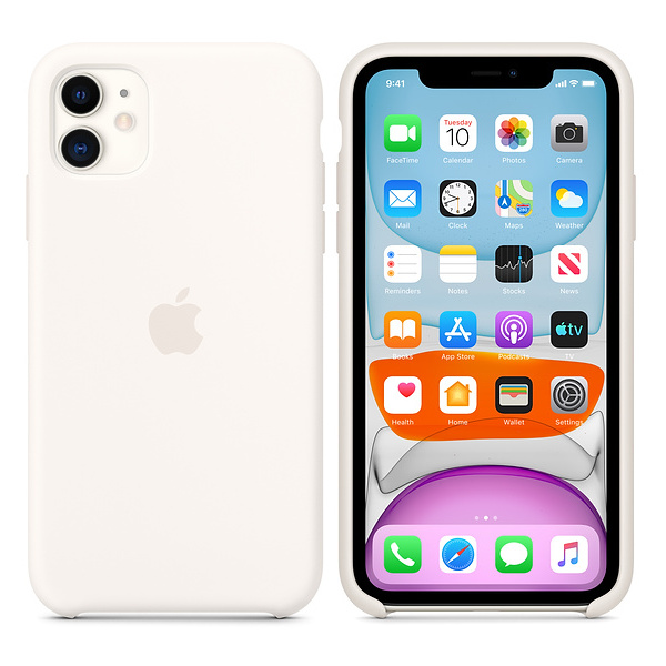 Apple Silicone Case White iPhone 11