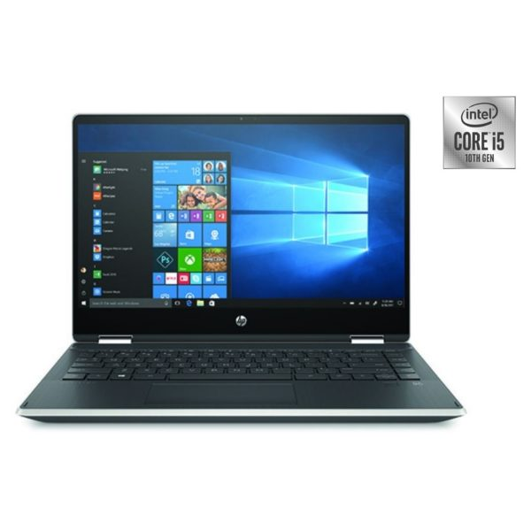 HP Pavilion x360 14-DH1015NE Convertible Touch Laptop - Core i5 1.6GHz 8GB 1TB+128GB 2GB Win10 14inch Natural Silver