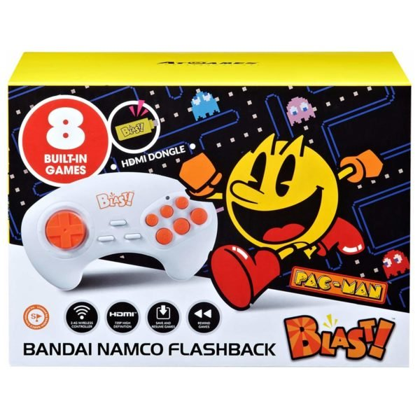 AtGames Bandai Namco Flashback Blast Console With 8 Built-In Games