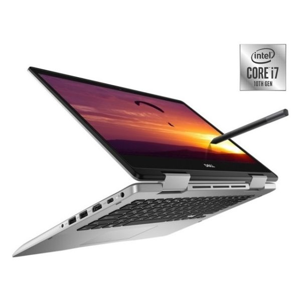 Dell Inspiron 5491 Convertible Touch Laptop - Core i7 1.8GHz 8GB 512GB 2GB Win10 14inch FHD Silver English/Arabic Keyboard