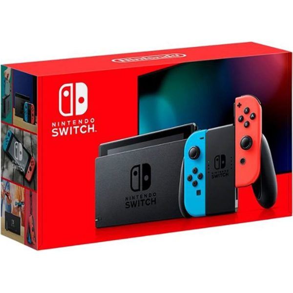 Nintendo Switch HADSKABAA Console 32GB Neon Red & Blue