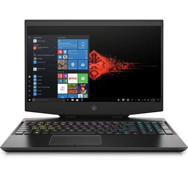HP OMEN 15-DH1000NE Gaming Laptop - Core i7 2.6GHz 16GB 1TB 6GB Win10 15.6inch FHD Black English/Arabic Keyboard