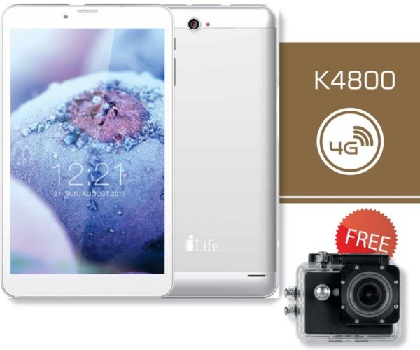 ILife K4800 Tablet - Android WiFi+4G 16GB 1GB 8inch Silver + Action Camera