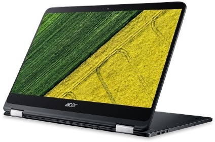 Acer Spin 7 SP714 Convertible Touch Laptop - Core i7 1.3GHz 8GB 256GB Shared Win10 14inch FHD Black