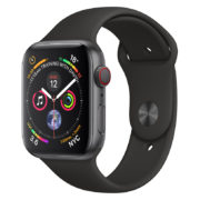 Apple Watch Series 4 GPS 44mm Space Grey Aluminium Case With Black Sport Band