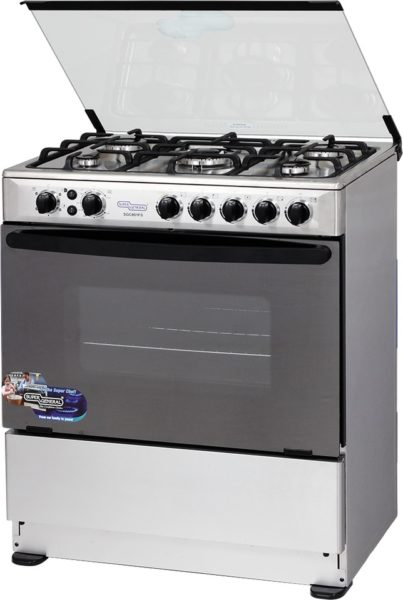 Super General 5 Gas Burners Cooker SGC801FS