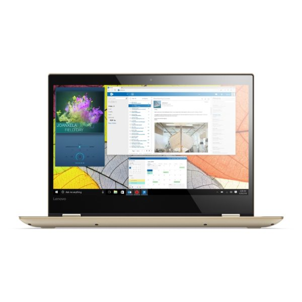 Lenovo Yoga 520 Convertible Touch Laptop - Core i3 2.2GHz 4GB 1TB Shared Win10 14inch FHD Gold