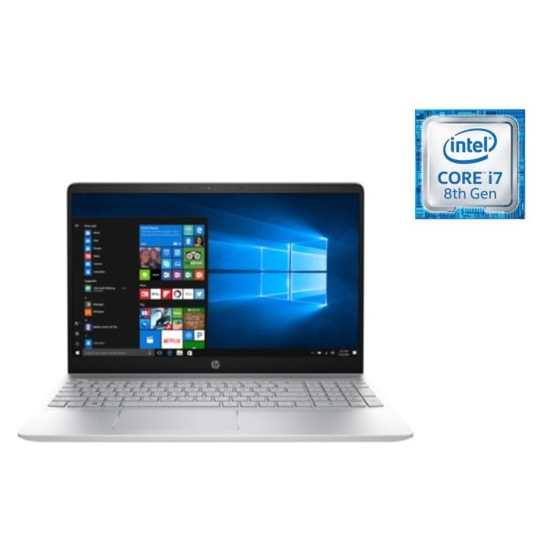 HP Pavilion 15-CK003NE Laptop - Core i7 1.8GHz 12GB 1TB+128GB 2GB Win10 15inch FHD Silver
