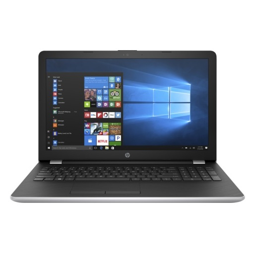 HP 15-BS003NE Laptop - Core i3 2GHz 4GB 1TB Shared Win10 15.6inch HD Silver