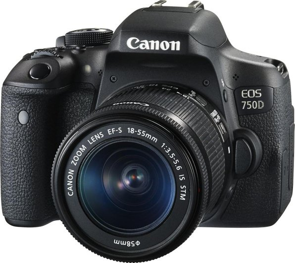 Canon EOS 750D DSLR Camera Black With EFS 18-55mm IS STM Lens