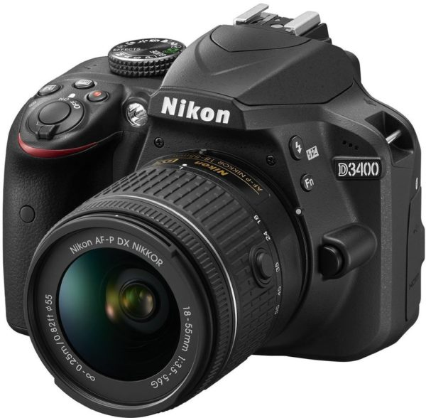 Nikon D3400 DSLR Camera Black With AF-P 18-55mm VR Lens + 55-200 VRII Lens