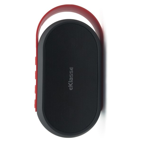 Eklasse Bluetooth Speaker Black With Red Strap