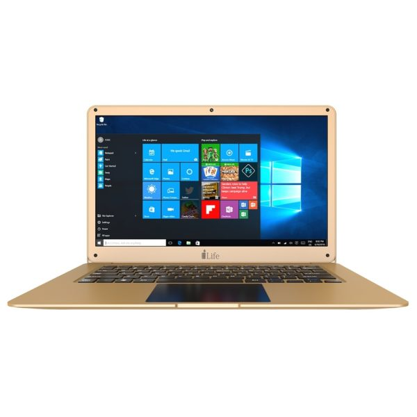Ilife ZedAir H2 Laptop - Celeron 1.1GHz 3GB 500GB+32GB Shared Win10 14inch HD Gold
