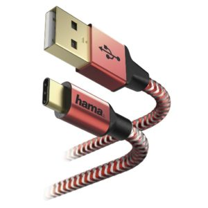 Hama Reflective Type C Sync Cable 1.5m Red