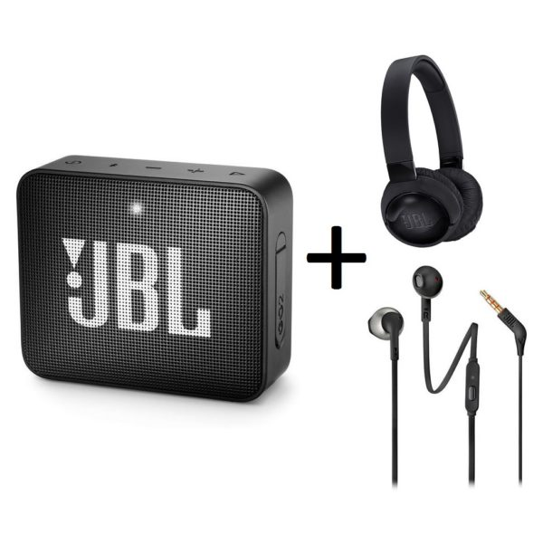 aaede401a7a JBL GO2 Portable Bluetooth Speaker + JBL TUNE600BTNC Wireless On-Ear Active  Noise Cancelling Headphone