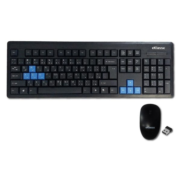 Eklasse EKWLKM05XM Wireless Keyboard & Mouse Combo