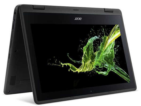 Acer Spin 1 SP111 Convertible Touch Laptop - Celeron 1.1GHz 4GB 500GB Shared Win10 11.1inch HD Black