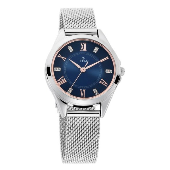 Titan Sparkle Blue Dial Analog Watch For Ladies