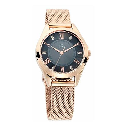 Titan Sparkle Anthracite Dial Analog Watch For Ladies