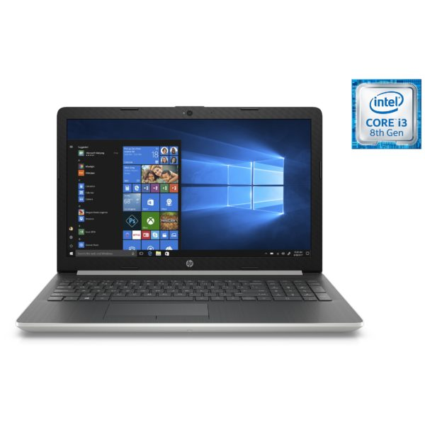 HP 15-DA1002NE Laptop - Core i3 2.1GHz 4GB 1TB Shared Win10 15.6inch HD Silver