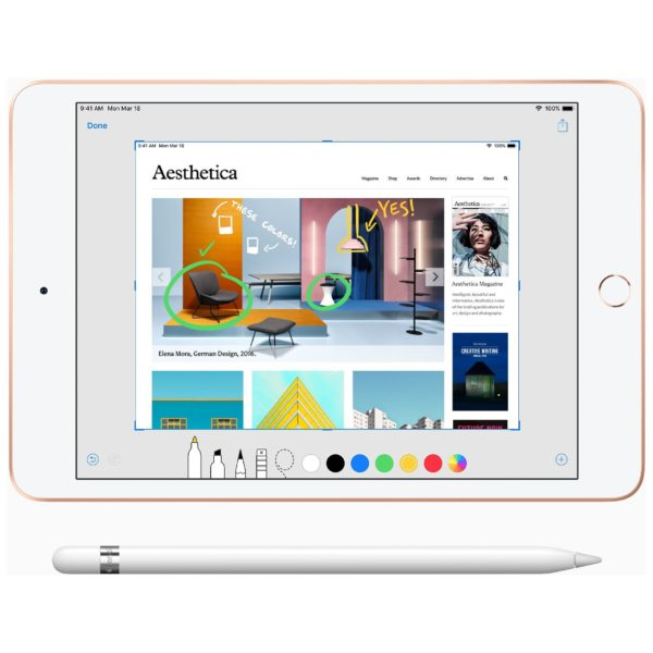 Apple iPad mini (2019) - iOS WiFi 64GB 7.9inch Gold