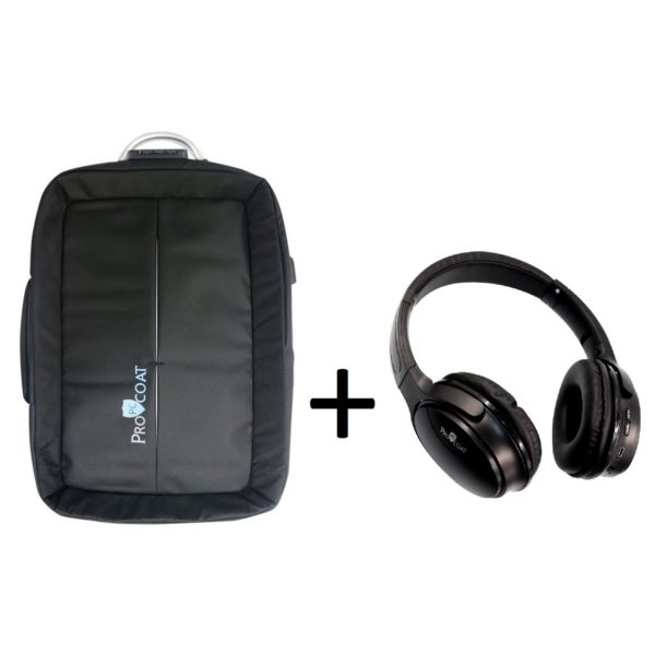 ProCoat PRO01 Laptop Backpack + BB801 Wireless Headpone