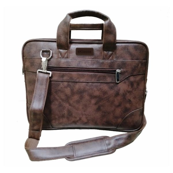 Eklasse EKLPC20RB PU Leather Laptop Bag 14inch Stained Brown