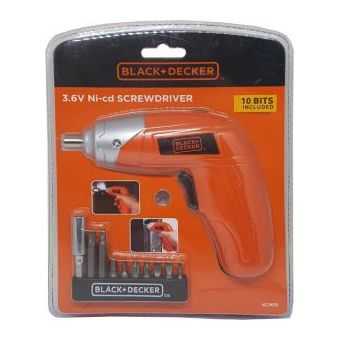 Black & Decker KC3610B5 Single Speed Screwdriver W/10Bits
