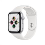 Apple Watch SE GPS 44mm Silver Aluminum Case with White Sport Band