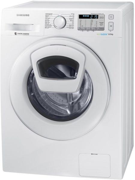 Samsung Front Load Washer 8Kg White WW80K5413WWSG
