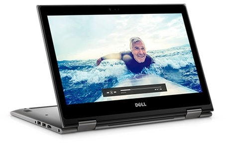 Dell Inspiron 13 5378 Convertible Touch Laptop - Core i7 2.7GHz 16GB 256GB Shared Win10 13.3inch FHD Grey