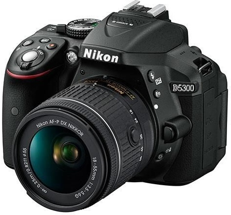 Nikon D5300 DSLR Camera Black With AF-P 18-55mm Lens