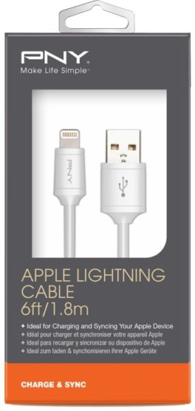 PNY CUALNW0106 Lightning Charge & Sync Cable 1.8m White